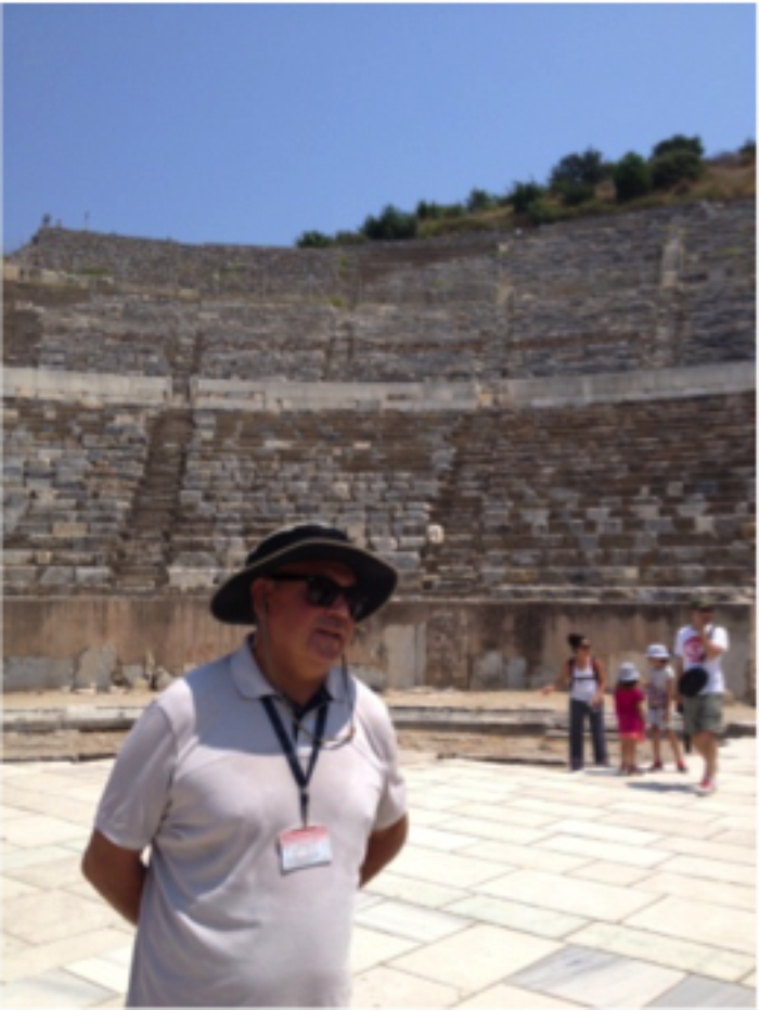 Man at the Ruins of Ancient Ephesus